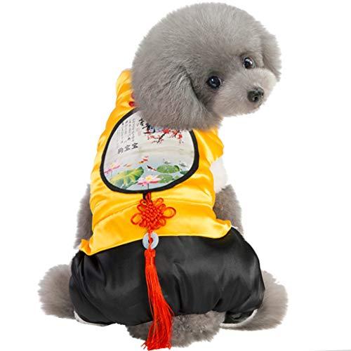 Haustierkleidung Hund/Katze Kostüme Warm Bekleidung Hawkimin niedliche Kleine Haustier Hundebekleidung Warmer Muster Druck Hund Kleidung Kleine mittlere große Haustier (Katze Im Hut Dog Kostüm)