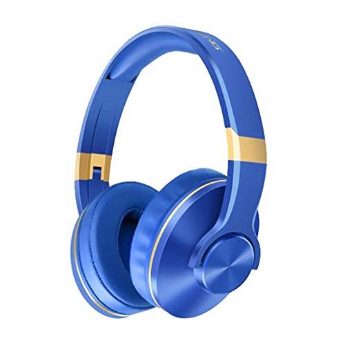 drahtloses Musik Kopfhörer Unterstützungs TF Karten Bluetooth Kopfhörer-Spiel für PS4 / PC Bluetooth mit Mic, Ewendy Kopfhörer In-Ear Ohrhörer (Blau) Voip-in-ear-headset