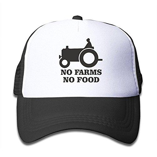 LuoKuan Kids Hat No Farms No Food Farmer Truck Adjustable Mesh Trucker Caps (Food Truck Delivery)