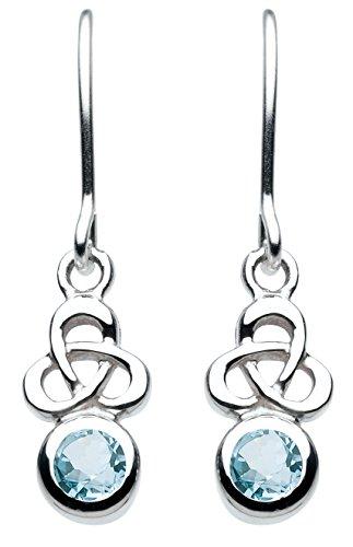 heritage-orecchini-pendenti-in-argento-sterling-motivo-con-nodo-celtico-trinity-argento-colore-topaz