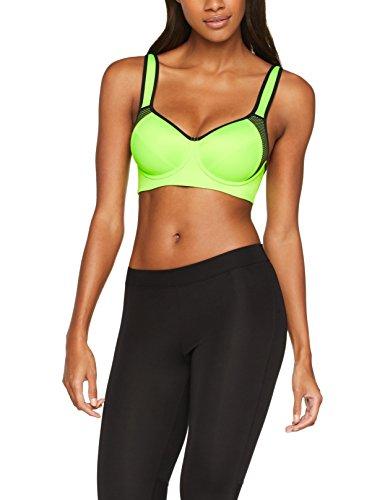 Iris & Lilly Damen High Impact Sport-BH, Grün (Acid Green/Black Acid Green/Black), 75D (Herstellergröße: 34D) (Sport-bh 34d)