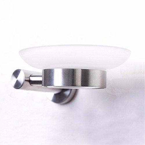 LOSTRYY 304 Edelstahl bad Glas Teller Teller creative Aschenbecher Badezimmer Runder Aschenbecher (überdachte Kunststoff-teller)