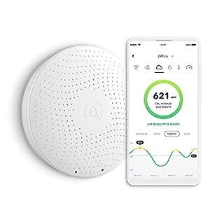 AirThings Wave Plus Smart Radon, CO2 und TVOCs Detektor mit Temperatur-, Feuchtigkeits- und Luftdrucksensoren, batteriebetrieben, mit gratis App