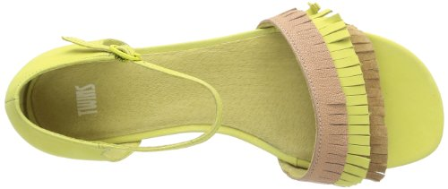 Camper Twins 21985, Sandales femme Jaune (Yellow-001)