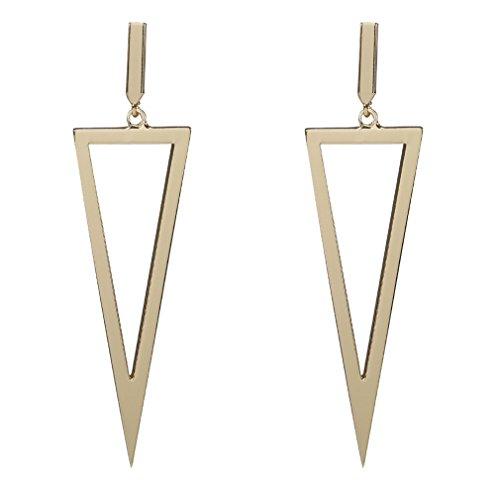 Schöne Persönlichkeit Ohrringe Zubehör Kupfer Ohrringe geometrische Dreieck groß, Gold