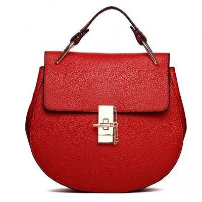 getthatbag® Damen Rot Norma–Medium Golden Hardware tote-red, Rot - rot - Größe: Medium