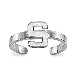 Sterling Silver LogoArt Michigan State University Toe Ring