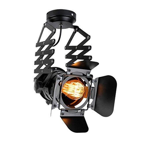 E27 Retro Industriellen Design Track Strahler Pendelleuchte Schwarz Metall Verstellbare Hängeleuchte Einfache Atmosphäre Bekleidungsgeschäft Track Lichter Pendellampe MAX 60W (Moderne Track-licht)