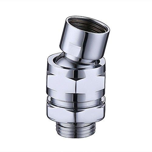 KES Dusche Kopf Swivel-Ball Adapter-Messing Kugelgelenk verstellbar Dusche Arm Universal Duschen-Stecker Komponente, pbs100-p chrome - Beschlag-dusche-kopf