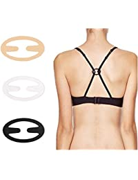 KOOYOL 3Pcs Bra Strap Clips - Racer Back - Conceal Straps - Cleavage Control ¡