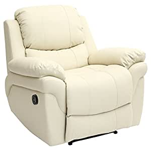 MADISON LEATHER RECLINER ARMCHAIR SOFA HOME LOUNGE CHAIR ...