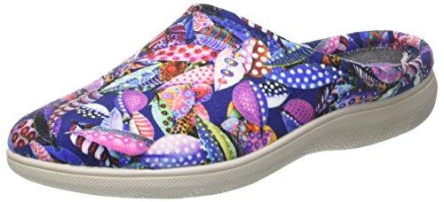 Inblu blupuff spugna, pantofole aperte sulla caviglia donna, (blu), 37 eu
