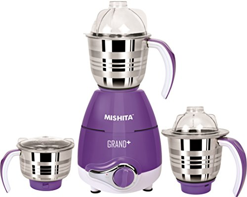 MISHITA GRAND+ Mixer Grinder with 3 Jars 750Watt