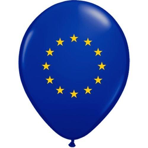 partydiscount24 Luftballons Europa Ø 30 cm 50 Stück