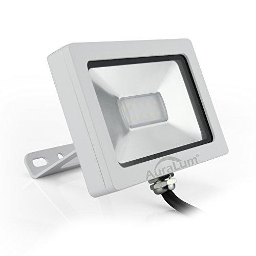 Auralum® iluminación eficiente 10W llevó el proyector para exterior ultra-delgada luz de la lámpara IP65 750lm SMD10 * 3030 LED CRI> 80 6000-6500K garantía Blanca Fría 2 años