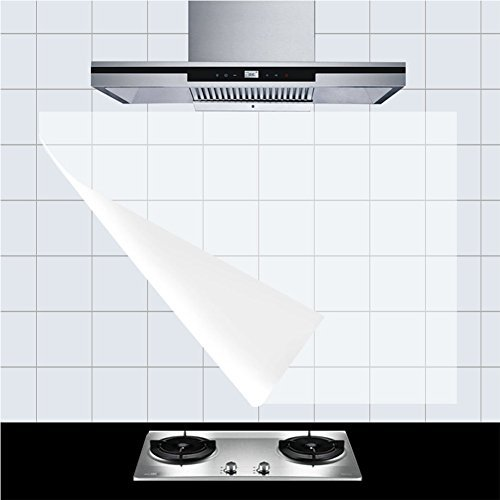 lvdd Küche Duett Tapete Aufkleber/Schutzklebefolie High Temperature Resistant transparent umweltfreundlichen PVC, 58,4x 88,9cm 6pcs 23Wx35L