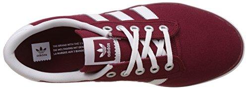 adidas  Kiel, espadrilles de basket-ball homme Rouge (Collegiate Burgundy/Ftwr White/Silver Metallic)