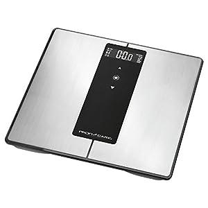 ProfiCare PW 3008 – Báscula baño digital Bluetooth con análisis corporal de 8 funciones diagnóstico, color negro