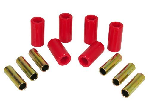 Prothane 1-1001 Red Front Spring Eye and Shackle Bushing Kit for Jeep CJ5 and CJ6 by Prothane