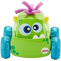 Fisher-Price Coche Monstruito verde, juguete gateo, bebé +9 meses (Mattel DRG15)