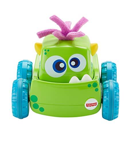 Fisher-Price Coche Monstruito verde, juguete gateo, bebé +9 meses Mattel DRG15