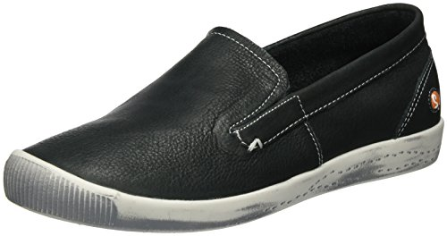 Softinos Ita298sof Smooth, Mocassins Femme Schwarz (Black)