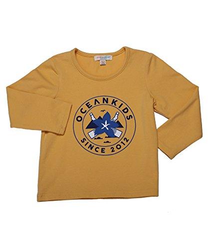 Oceankids Mädchen's Gelb Langarm T-SHIRT Australian Opopanax Gedruckt 6T 5-6 Jahre (T-shirt Kleinkinder Force Air)