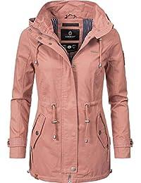 Marikoo Damen Übergangsjacke Baumwolljacke mit Kapuze Nyokoo 6 Farben XS-XXL