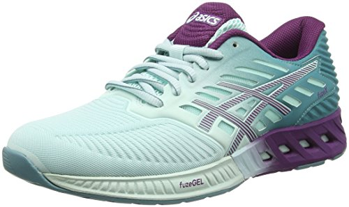 Asics Fuzex, Chaussures de Running Compétition Femme Blanc (Soothing Sea/Phlox/Kingfisher)