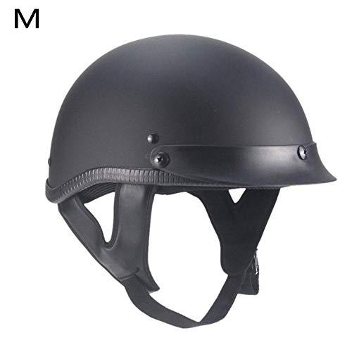 gaeruite Motorrad-Halbhelm, Retro-Motorrad-Halboffener Gesichtsschutzhelm Helm für Männer