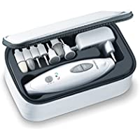 Beurer MP-41 - Set de manicura/pedicura profesional, 7 accesorios incluidos, color blanco
