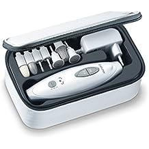 Beurer MP-41 - Set de manicura/pedicura profesional, 7 accesorios incluidos, color blanco