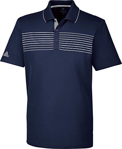 adidas Essentials Textured Tipped Polo de Golf Homme L Bleu