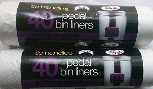 PED500 PEDAL BIN LINER WHITE LIGHT DUTY BIN BAG 100 x WHITE PEDAL BIN LINERS