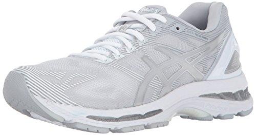 ASICS Women's Gel-Nimbus 19 Ankle-High Running Shoe - 9M - Glacier/Silver/White