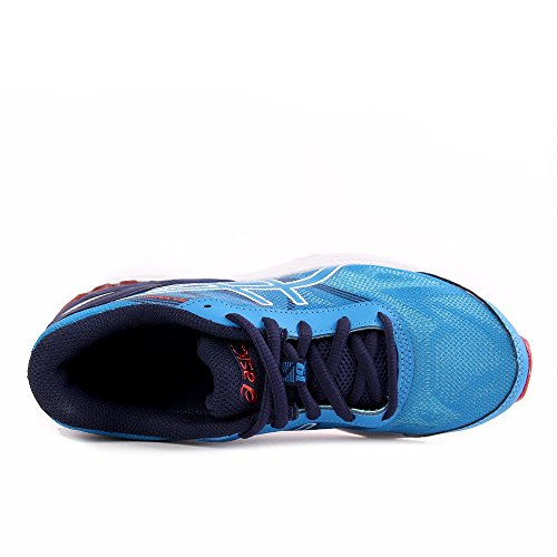 Asics Gel-Nimbus 19 Gs, Scarpe da Ginnastica Unisex-Bambini diva blue-white-indigo blue (C706N-4301)