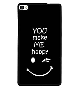 Fuson 2D Printed Quotes Designer back case cover for Huawei P8 - D4290