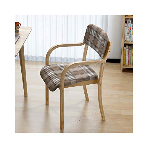 Bar-stuhl-seat-kissen (JUN Massivholz Stuhl Lazy Seat Esszimmerstuhl Wohnzimmer Restaurant Bar Freizeit Bar Stuhl Bequemer Stuhl 53 × 45 × 79 cm (Color : A))