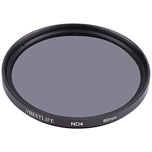 VBESTLIFE DSLR-Kamera-Filterobjektiv, ND4 Universal-Ultra-Slim-Density-Kamera-Fotografie-Dimmer-Filterobjektiv für DSLR-Kameras von Canon Nikon Sony(82mm/3.23in)
