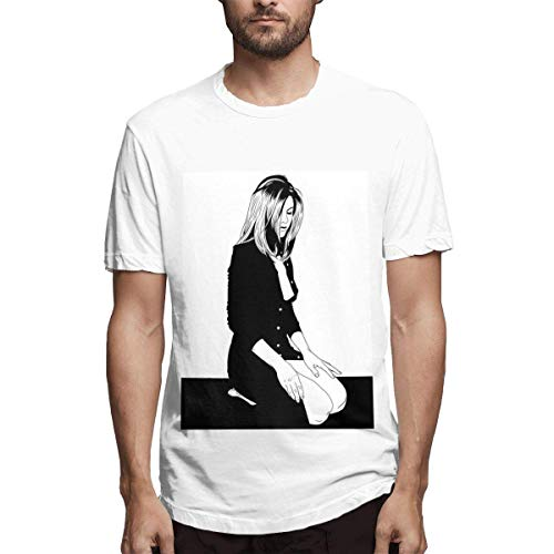 Yotoget Man Jennifer Aniston Spirit Print Tee,White,3XL