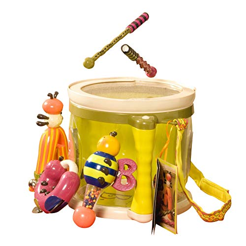 B toys � Parum Pum Pum � Toy Drum Kit with 7 Musical Instruments for Kids 18 months + (7-Pcs)