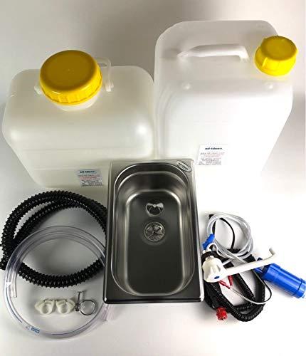 Wasseranlage Imbisswagen Verkaufsanhänger Campingküche Bausatz Spüle 265x160x100 Novo (ad-ideen) (N)