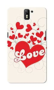 CimaCase Love Hearts Designer 3D Printed Case Cover For OnePlus One