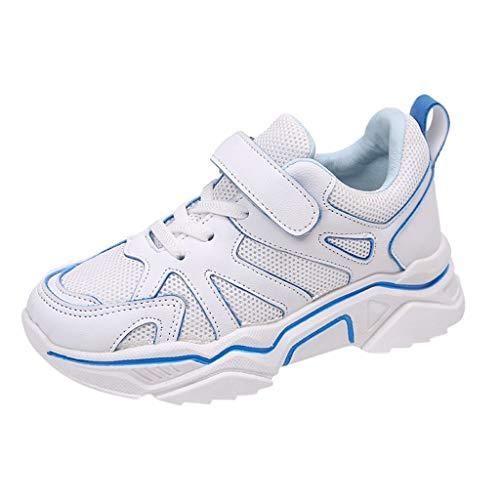 LILIGOD Freizeitschuhe Kinder Sport Run Turnschuhe Mesh Patchwork Sportschuhe Outdoor Laufschuhe Mädchen Jungen Sneakers mit Klettverschluss Weiche und Bequeme Schuhe (Deluxe Indische Kostüm)