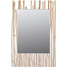 Burkina Home Decor 062-117M - Espejo decorativo, 63 x 5 x 93 cm, color blanco