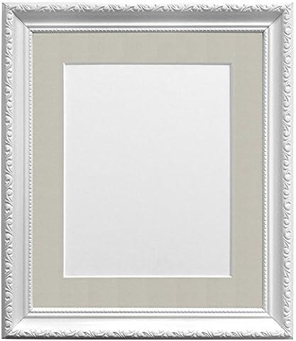 Frames By Post Bilderrahmen mit hellgrau Halterung für A3Kunststoff Glas Bild Größe, weiß, 30mm breit, 50x 40cm