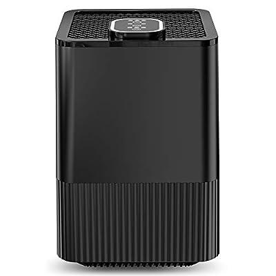 Purificatore d'aria con filtro HEPA reale e ionizzatore, filtrazione a 4 strati e 3 funzioni timer, elimina polvere, fumo, batteri, pet dander, polline per casa e ufficio