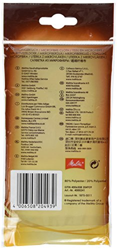 Melitta 204939Perfect Clean Microfibre Cleaning Cloth
