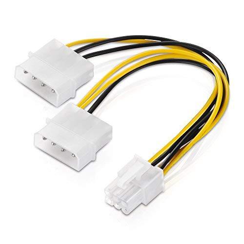 6 poliges Grafikkarten-Stromkabel Adapter Strom Kabel PCIe PCI-E PCI Express PEG