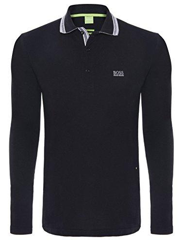 Hugo Boss - Herren Langarm Paddy Polo-Shirts in Verschiedenen Farben und Größen Schwarz